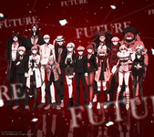 Digital MonoMono Machine Danganronpa 3 Side Future Cast Android wallpaper