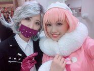 Danganronpa 3 THE STAGE Saki Funaoka and Anna Ishida in costume as Seiko Kimura and Ruruka Ando