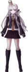 Danganronpa 1 Kyoko Kirigiri Fullbody Sprite (With Noodles) (PSP) (1)