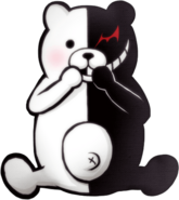 Danganronpa 2 Monokuma Sitting Sprite 01