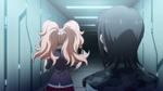 Despair Arc Episode 6 - Mukuro watching Junko walk off