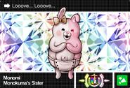 Danganronpa V3 Bonus Mode Card Monomi U ENG