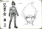 Art Book Scan Danganronpa V3 Character Designs Betas Kaito Momota (4)