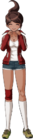 Danganronpa 1 Aoi Asahina Fullbody Sprite (PSP) (7)