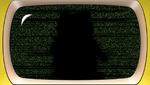 Danganronpa 2 CG - Monokuma's Silhouette on screen