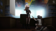 Despair Arc Episode 8 - Mukuro hands Junko a remote to present her plans