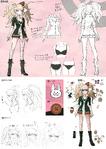 Danganronpa 1 Character Design Profile 1.2 Reload Artbook Mukuro Ikusaba