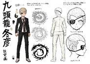 Danganronpa 2 Character Design Profile Fuyuhiko Kuzuryu (Eyepatch)