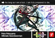 Danganronpa V3 Bonus Mode Card Peko Pekoyama U ENG