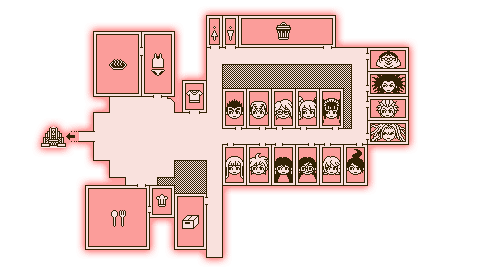 Danganronpa Dorm Room Map