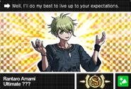 Danganronpa V3 Bonus Mode Card Rantaro Amami S ENG