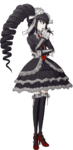 Danganronpa 1 Celestia Ludenberg Fullbody Sprite (PSP) (9)