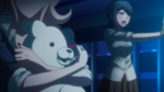 Despair Arc Episode 7 - Junko watching the Student Council kill each other