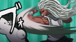 Danganronpa the Animation (Episode 08) - Sakura fighting Monokuma (5)