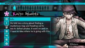 Kaito Momota Report Card Page 2 (For Shuichi)