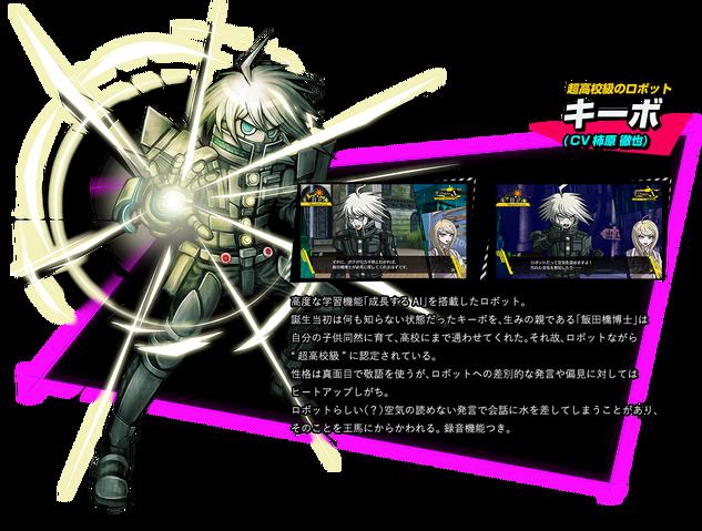 File:K1-B0 Keebo Kiibo Ki-Bo Danganronpa V3 Official Japanese Website Profile.png