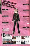 Danganronpa 1 Makoto Naegi Character Design Profile Danganronpa 1.2 Art Book