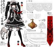 Danganronpa 1 Character Design Profile Celestia Ludenberg