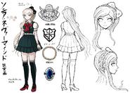 Danganronpa 2 Character Design Profile Sonia Nevermind