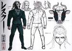 Danganronpa 3 Booklet - Design Sketches - Great Gozu (Final)