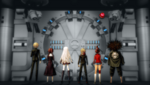 Danganronpa 1 CG - The survivors of the Killing School Life at the door