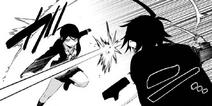 Danganronpa Gaiden KK Chapt 9 Mukuro and Takumi fighting