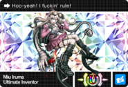 Danganronpa V3 Bonus Mode Card Miu Iruma U ENG