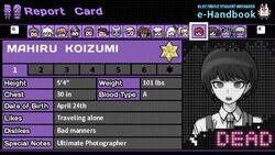 Mahiru Koizumi's Report Card (Deceased)