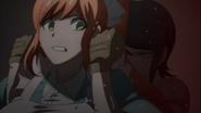 Despair Arc Episode 9 - Mukuro preventing Chisa from saving the victim