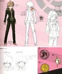 Danganronpa 1 Character Design Profile 1.2 Reload Artbook Makoto Naegi