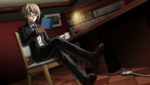 Danganronpa 1 CG - Byakuya Togami reading