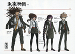 Danganronpa Another Episode - Scrapped Future Foundation Cameos - Height Chart