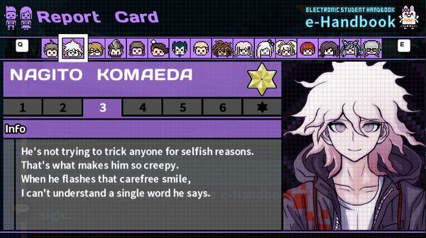Nagito Komaeda's Report Card Page 3