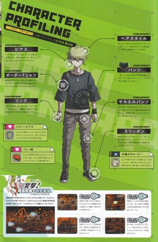 File:Art Book Scan Danganronpa V3 Rantaro Amami Character Profiling.png