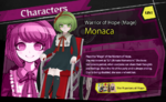 Promo Profiles - Danganronpa Another Episode (English) - Monaca Towa
