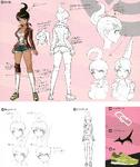 Danganronpa 1 Character Design Profile 1.2 Reload Artbook Aoi Asahina