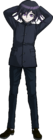 Danganronpa V3 Kokichi Oma Fullbody Sprite (High School Uniform) (2)