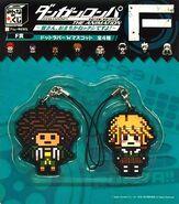 FuRyu Minna no Kuji Dot Rubber Mascots Chihiro Fujisaki and Yasuhiro Hagakure