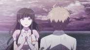 Mikan talking to Makoto