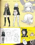 Danganronpa 2 Character Design Profile 1.2 Reload Artbook Chiaki Nanami