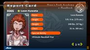 Leon Kuwata Report Card Page 1