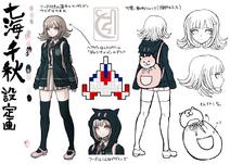 Danganronpa 2 Character Design Profile Chiaki Nanami