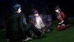 Danganronpa V3 CG - Kaito Momota Maki Harukawa and Shuichi Saihara talking outside (2)
