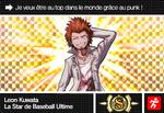 Danganronpa V3 Bonus Mode Card Leon Kuwata S FR