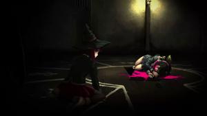 Danganronpa V3 CG - Himiko Yumeno discovering Tenko Chabashira's corpse