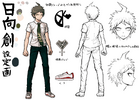 Danganronpa 2 Character Design Profile Hajime Hinata