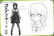 Art Book Scan Danganronpa V3 Character Designs Betas Tsumugi Shirogane (3)