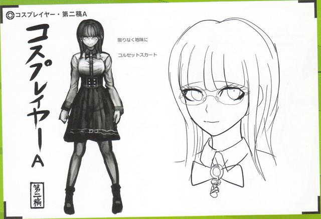 File:Art Book Scan Danganronpa V3 Character Designs Betas Tsumugi Shirogane (3).png