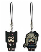 FuRyu Minna no Kuji Dot Rubber Mascots Chiaki Nanami and Sonia Nevermind OOB