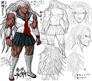 Danganronpa 1 Character Design Profile Sakura Ogami